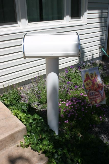 new breadbox turned mailbox