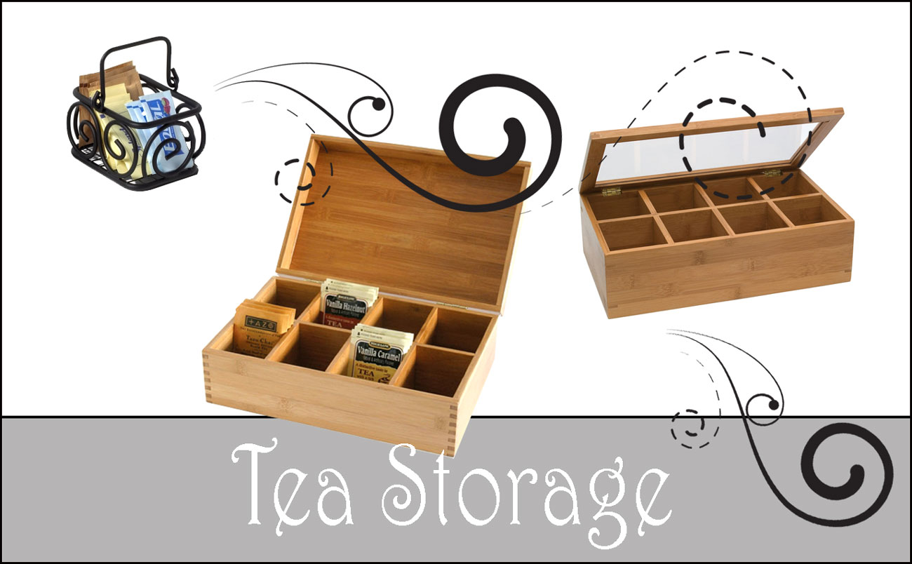 tea storage boxes