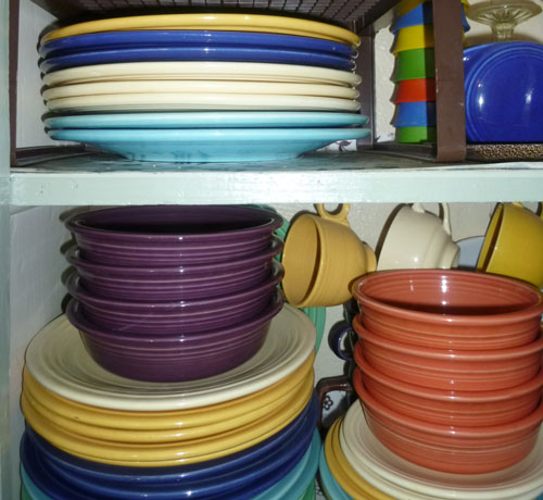 organize dishes