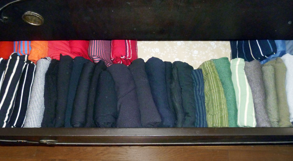 Folding Shirts To Maximize Drawer Space And Free Up Closet