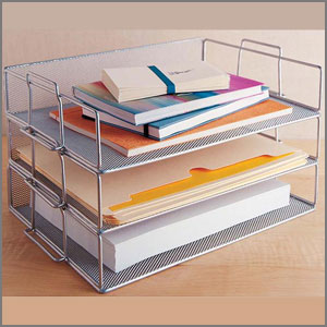 dorm living silver stackable tray