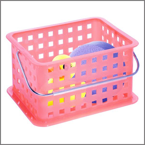 stckable plastic storage basket