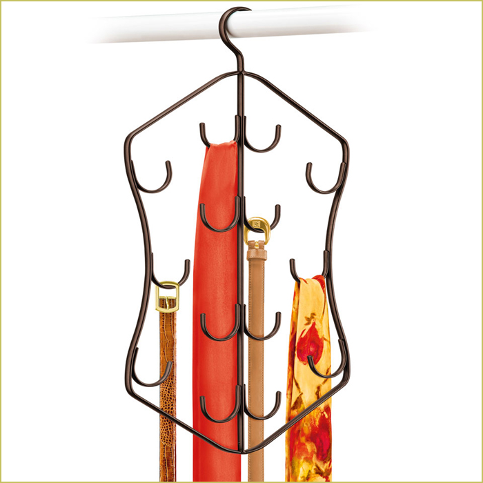 hanging scarf holder