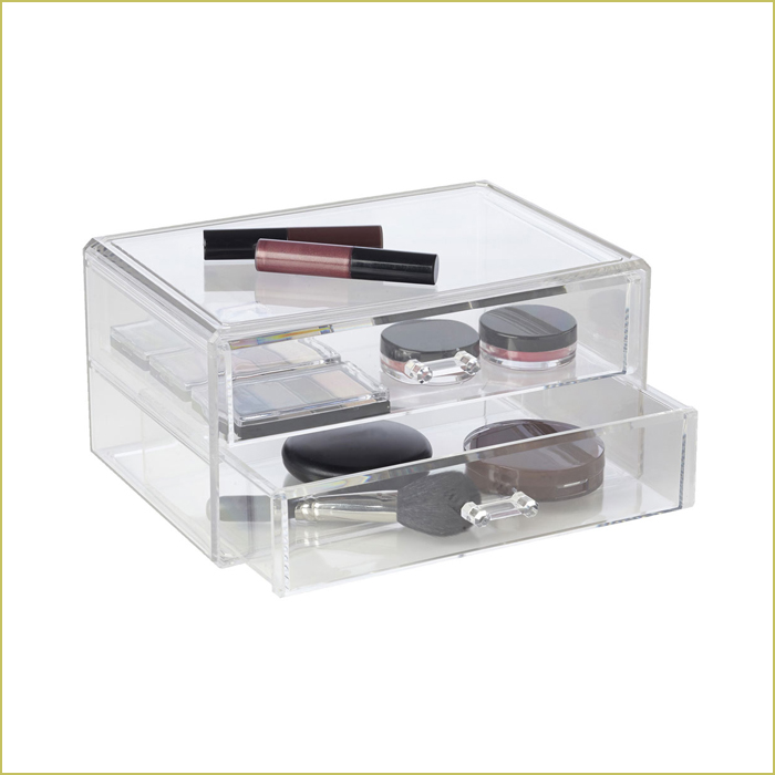 two drawer makeup storage