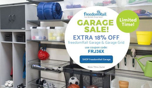 freedomRail Garage systems sale