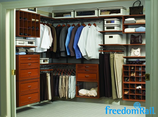 FreedomRail Cherry Walk In Closet