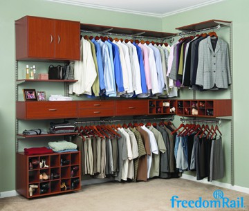 FreedomRail Cherry Double Hang Closet