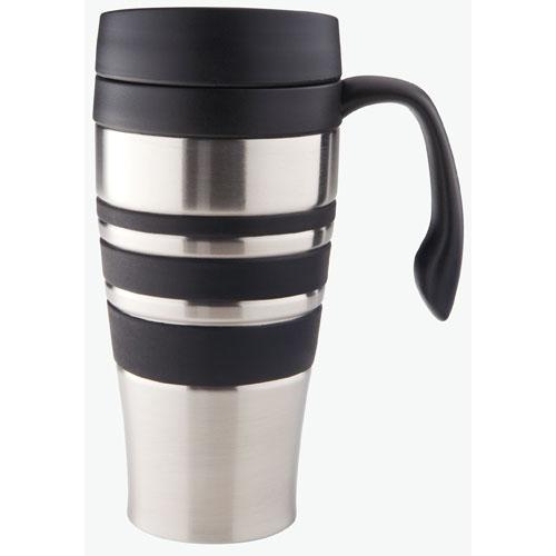 Stainless Steel Travel Coffee Mug Brushed Finish Image