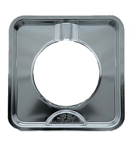 7.75 Inch Chrome Square Gas Range Drip Pan Image