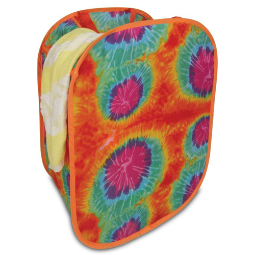Collapsible Laundry Hamper - Tie-Dyed Image