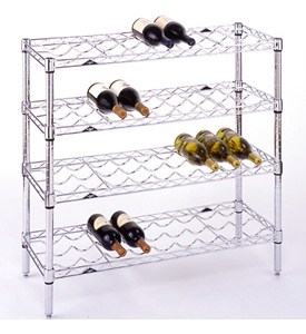 36 Bottle Chrome Wine Rack Image