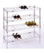36 Bottle Chrome Wine Rack