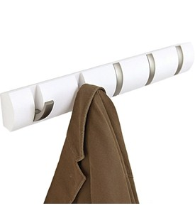 Wood Flip Coat Hook - White Image