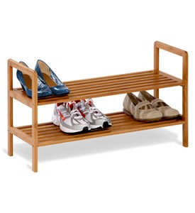 Bamboo Shoe Rack - 2 Tier Image