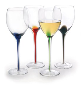 Color Splash Wine Glasses (Set of 4) Image