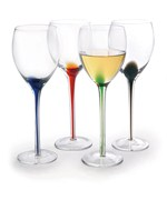 Color Splash Wine Glasses
