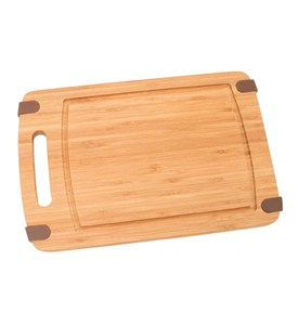 Slip Resistant Bamboo Cutting Board - Small Image