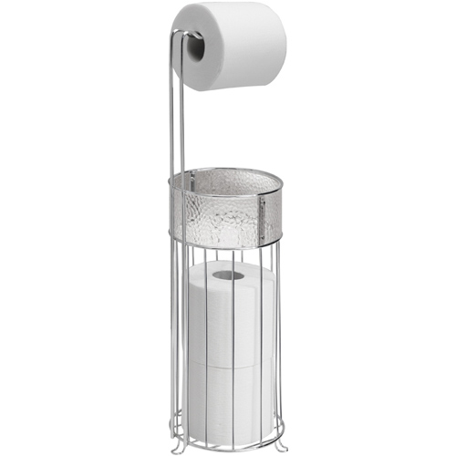 Interdesign standing toilet paper holder in toilet paper stands - Interdesign toilet paper holder ...