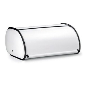 Deluxe Steel Bread Box - White Image