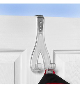 Adjustable Over the Door Double Hook Image