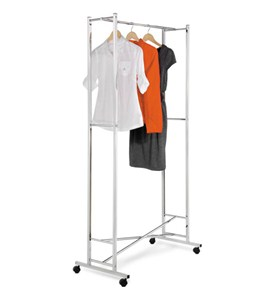 Folding Chrome Garment Rack Image
