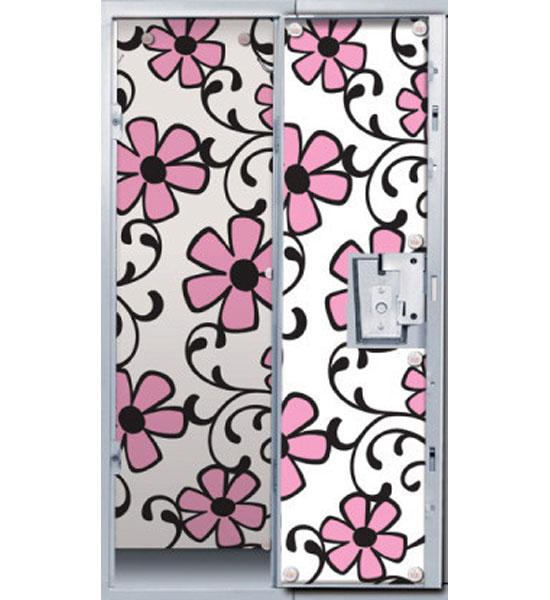 pink floral locker decor wallpaper in locker organizers