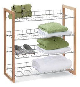 4 Shelf Unit - Wood Frame Image