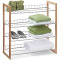 4 Shelf Unit - Wood Frame