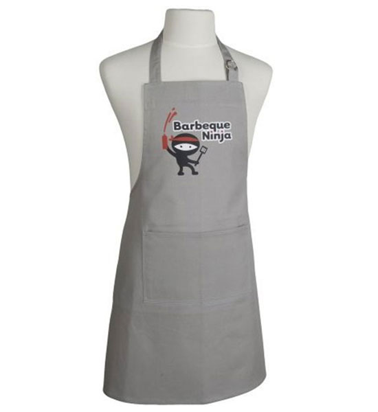 Kitchen Apron - Barbecue Ninja In Aprons And Oven Mitts