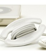 Small Bobino Cable Cord Wrap - White