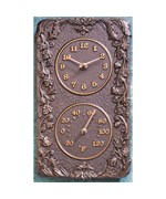Acanthus Outdoor Thermometer and Clock