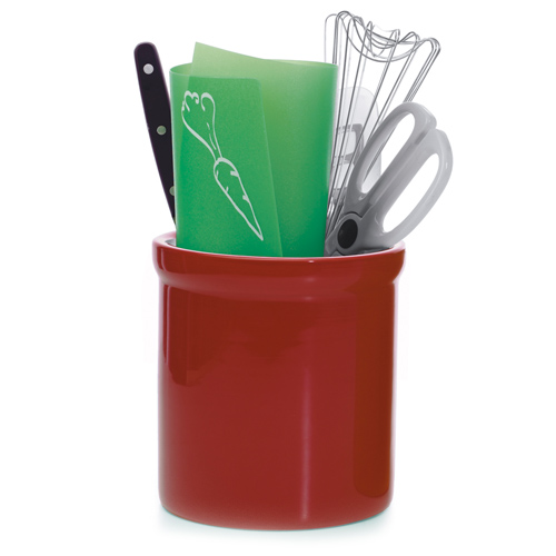 Ceramic Utensil Holder - Red Image