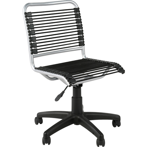 low back office chair aluminum in armless office chairs