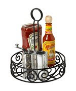 Scroll Tabletop Condiment Caddy