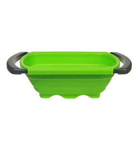 Collapsible Sink Colander - Green Image