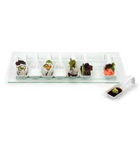 Porcelain and Glass Appetizer Set Image