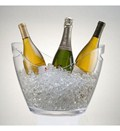 Vino Gondola Acrylic Wine Bucket - Clear