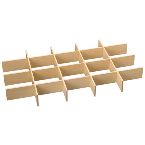 FreedomRail Big O-Box Drawer Dividers - Maple Image