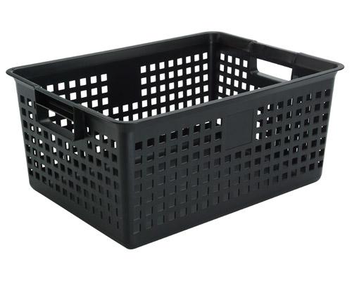 Iris Plastic Mesh Storage Basket   Black Image