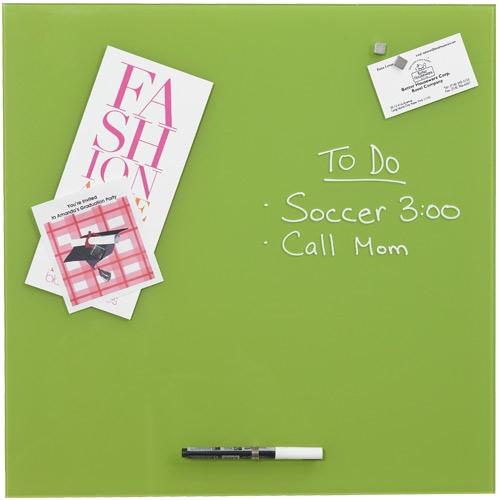 erasable glass memo board green in memo and bulletin boards. Black Bedroom Furniture Sets. Home Design Ideas