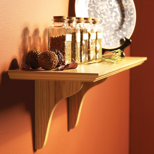 Wood Wall Mount Shelf Kit Image - Wood Wall Mount Shelf Kit In Wall Mounted Shelves