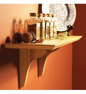 Wood Wall Mount Shelf Kit Image