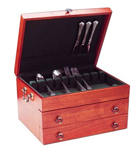 Handmade Wooden Silverware Chest - Cherry Image