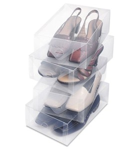 Clear Shoe Storage Box - Womens (Set of 4) Image