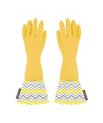 Rubber Dishwashing Gloves with Chevron Cuffs
