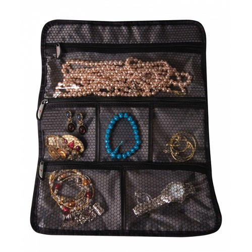 Gifts For Organizers >> Travel Jewelry Roll in Travel Toiletry Organizers