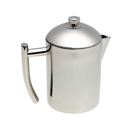 steel teapot with infuser