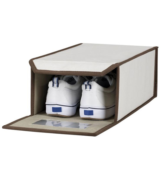 vision canvas shoe storage box small in home decor