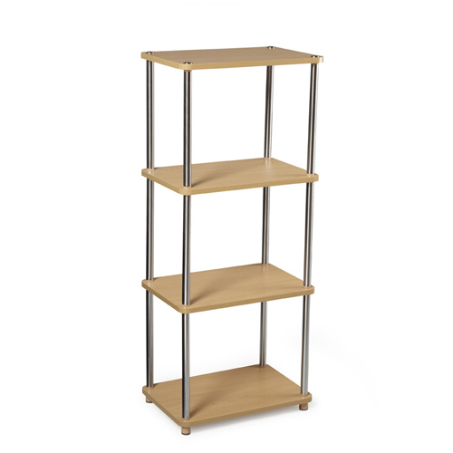Contemporary Free Standing Shelf Natural In Free