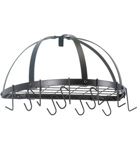 Old Dutch Wall Pot Rack - Half Round Image